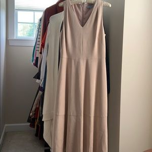 Antonio Melani sz 8 blush beige faux suede dress